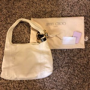 Jimmy Choo white leather bag